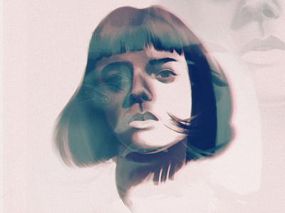 Portrait of a girl ipad procreate face girl woman portrait