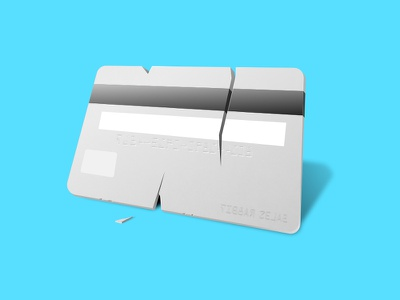 Credit Card Fail money bank illustration credit card