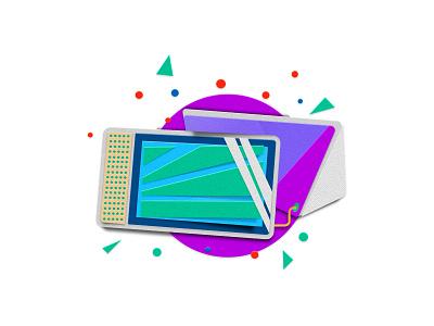 Lenovo Smart tablet spot illustration illustration paper illustration digital illustration lenovo walmart