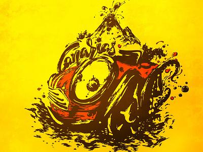 Canarias artwork grunge drawing painting graphic art illustration