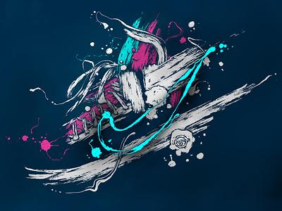 Nike artwork grunge graphic art illustraion nike
