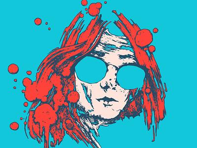portrait grunge graphic art illustration