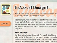 New Azzcat Design site