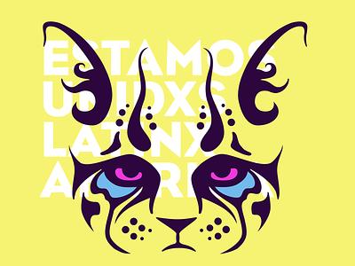 Estamos Unidxs Latinxamérica ocelot latinx