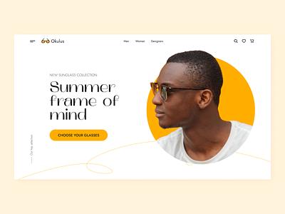Sunglasses E-commerce clean colors typography ux sunglasses ecommerce interface webdesign web design concept