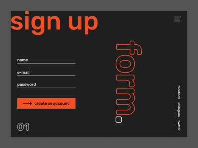 Sign Up form / Daily UI Challenge 01