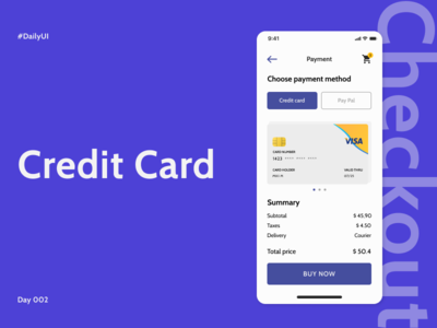 Credit Card Checkout / Daily UI Challenge 02