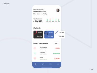 Banking user profile / Daily UI 006