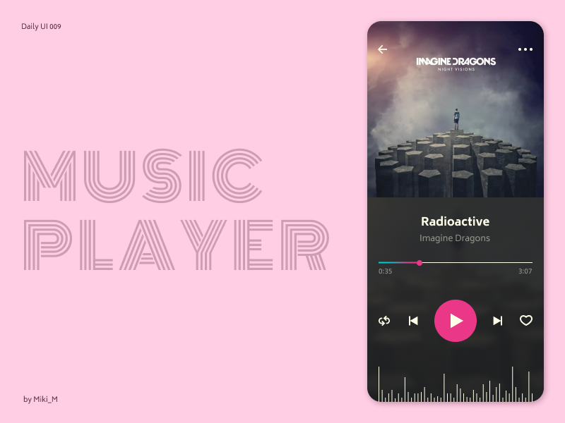 Music Player / 009 ios spotify layout comment music player music songs minimalist clean mobile colors ui ux typography interface webdesign web design dailyui concept