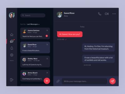 Direct Messaging / Dark mode