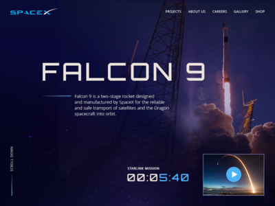 Countdown Timer SpaceX