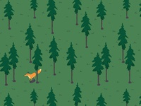 Lonely fox