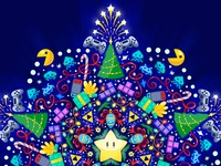 Christmas card, detail.