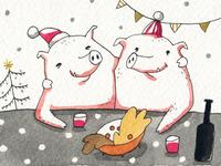 New year piggies