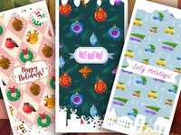 Greeting cards for a game