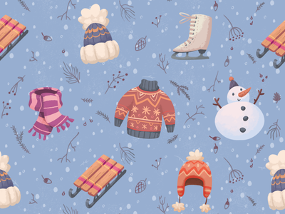 Winter outdoors pattern