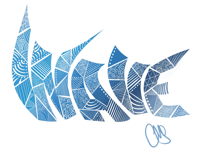Wave ipad pro illustration artist digital art hand drawn typography text