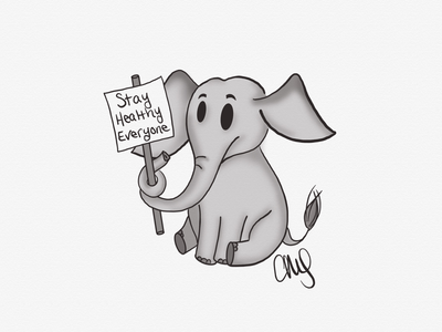 the elephant sketch elephant animal linea sketch linea sketch app character cartoon illustration weekly drawing inktober 52 inktober 2020 inktober