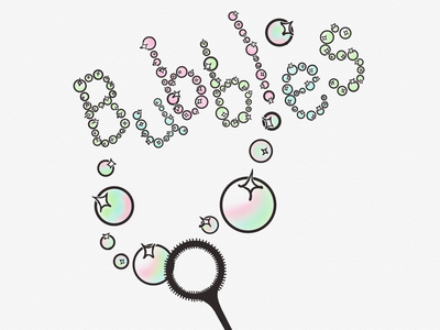 Bubbles linea sketch ipad pro bubble stick bubbles art illustration inktober