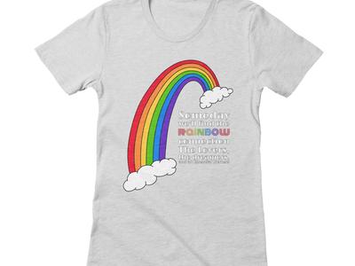 Rainbow Connection ipad pro rainbow tee shirt procreate illustration art