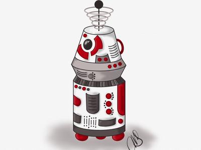 R2 unit inktober art illustration linea ipad pro digital art