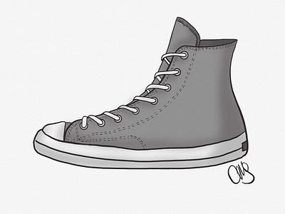 Shoe hand drawn artist ipad pro art ipad pro linea sketch prop design digital art illustration inktober shoes shoe chuck taylors chuck taylor converse