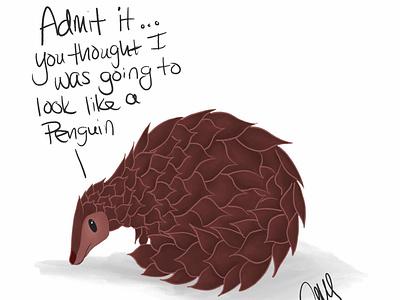 Pangolin animal illustration animal art pangolin ipad pro art cartoon artmash procreate animal illustration artist ipad pro art digital art