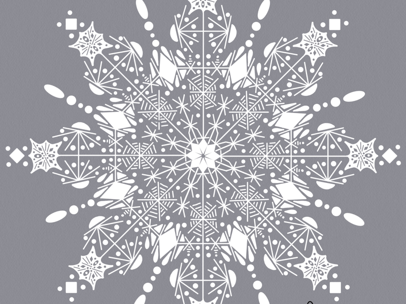 a little festive snow ipad pro art snowflake illustration digital art hand drawn