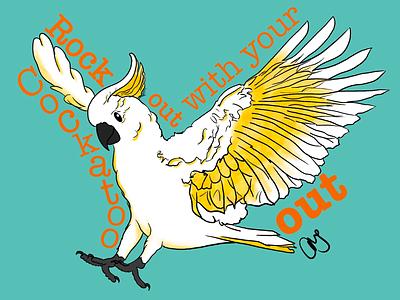 the cockatoo animal bird cockatoo artmash procreate 5 hand drawn art graphic design ipad art ipad pro typography illustration procreate