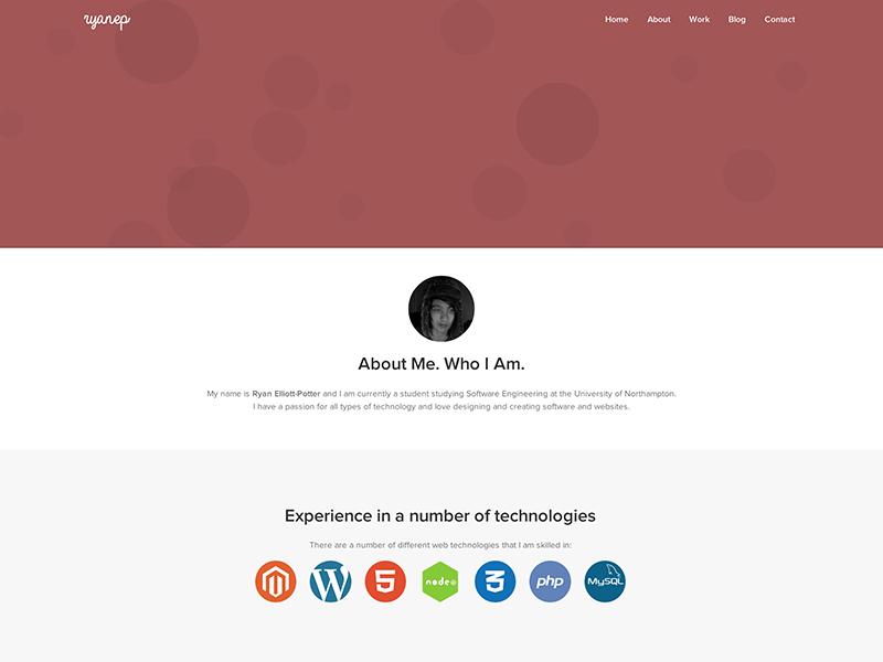 Portfolio Design debut bubbles web website portfolio red