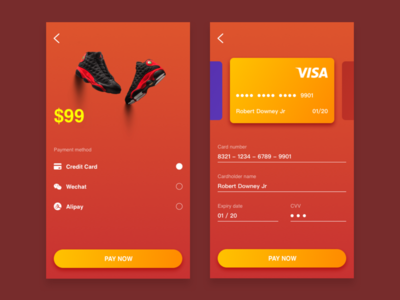 Daily UI day 2 Credit card checkout