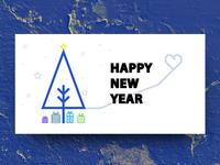 New Year card (psd)