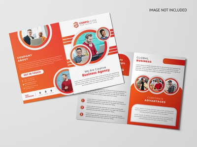 ABSTRACT CORPORATE BIFOLD BROCHURE DESIGN TEMPLATE