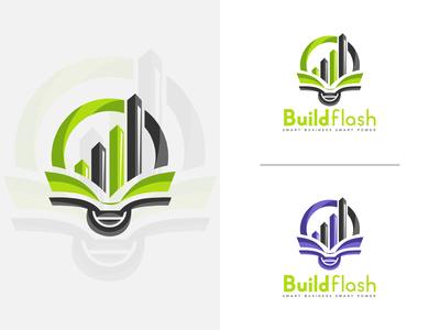 build flash abstract logo design