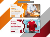 abstract creative marketing agency corporate social media banner