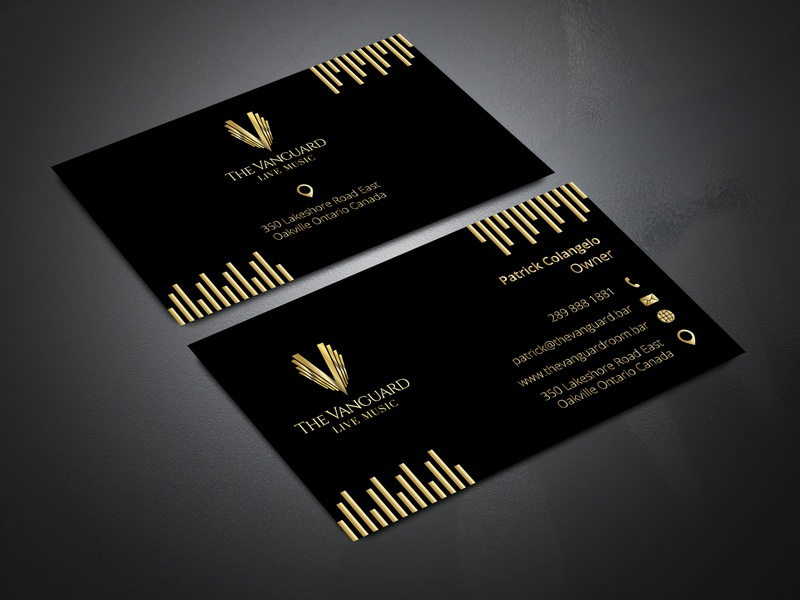 Gold Color Business Card By Md Shahadat Hossain On Dribbble