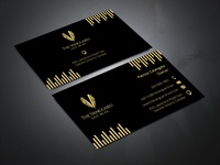 Gold Color Business Card