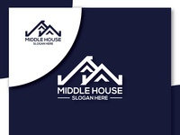 MIDDLE HOME LOGO DESIGN