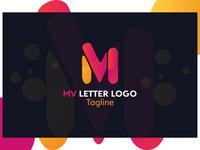 MV LETTER LOGO DESIGN