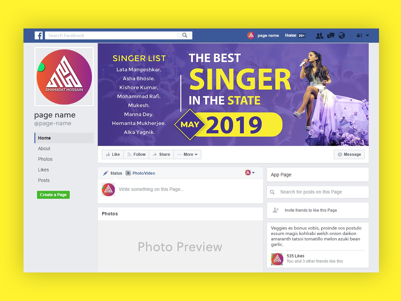 Facebook Page, Facebook profile, Cover Photo Design clean typography home illustration logo real estate amazing corporate company banners yellow color branding business banner ads cover design cover banner design cover photo design facebook profile facebook page