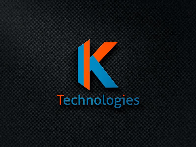 K Letter logo design - For Fiverr Client icon layout design blue typography illustration vector logo design logo real estate company amazing corporate branding business technical tech logo technology k letter k letter logo