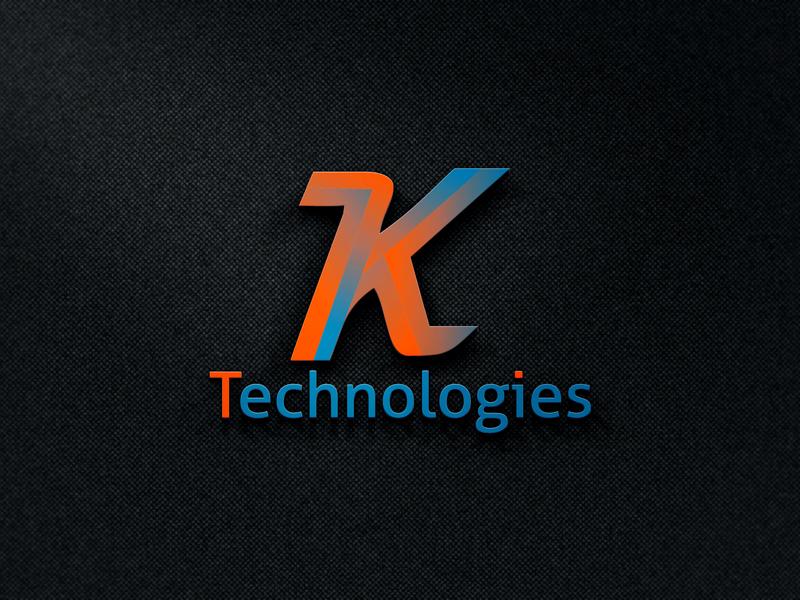 K Letter logo design best clean icon business card design vector logo real estate typography design illustration company amazing business branding corporate tech logo technology k logo logo design k letter