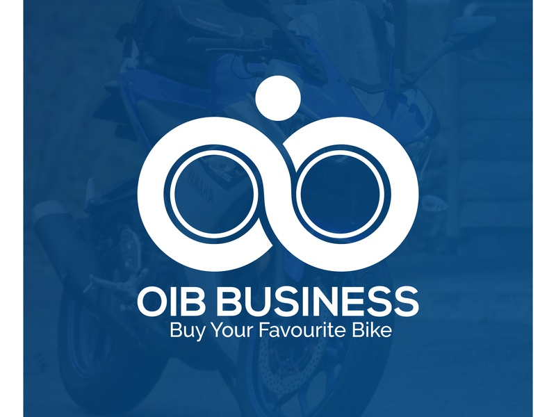 OIB BUSINESS, LOGO DESIGN, BIKE COMPANY vector real estate design typography illustration company amazing business corporate branding logo bikers pathao bike app biker bike logo bike bike company logo design oib business