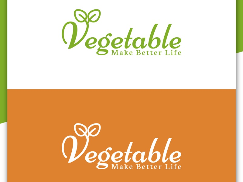 Vegetable Logo Design, Food Company by Md Shahadat Hossain on Dribbble