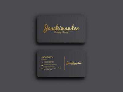 Luxury Premium Business Card Design