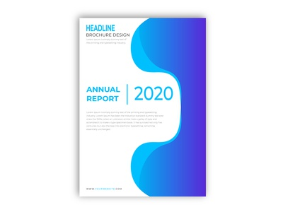 Creative Annual Report Flyer Design 2020
