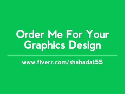 Order me, Fiverr Market, graphics design, logo, banner, shahadat