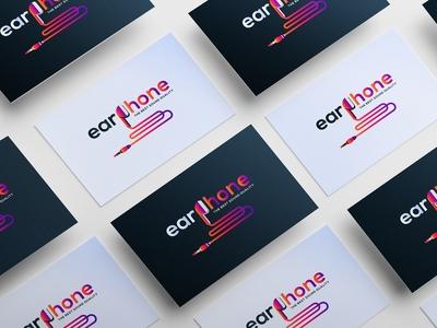 earphone abstract logo design