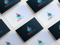 rapid lab abstract logo design template