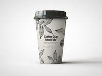 Craft Paper Coffee Cup Mock-Up design coffee cup takeaway disposable food and beverage tea packaging design hot drink teahouse café caffeine packaging branding coffee paper cup mockup mock-up